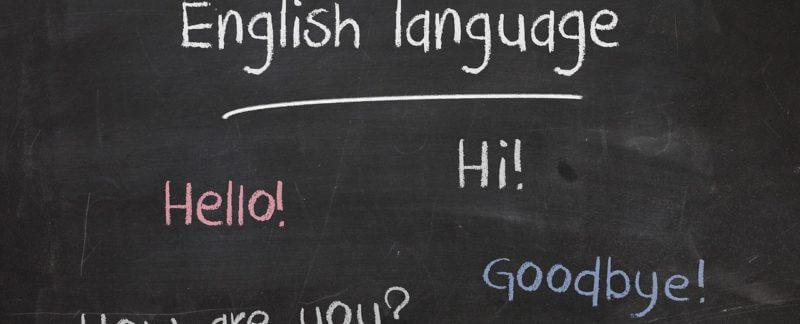 parole in inglese su una lavagna