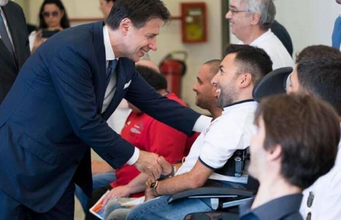 Il Presidente del Consiglio, Giuseppe Conte, incontra i disabili Pugliesi